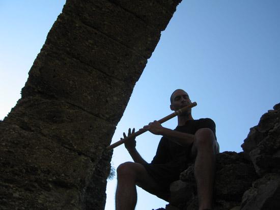 2008 Turkey Kerry Kriger Bansuri Bamboo Flute Aspendos Acropolis