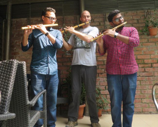 Bangladesh Chittagong - Kerry Kriger Shreeman Nayan Banik flute bansuri