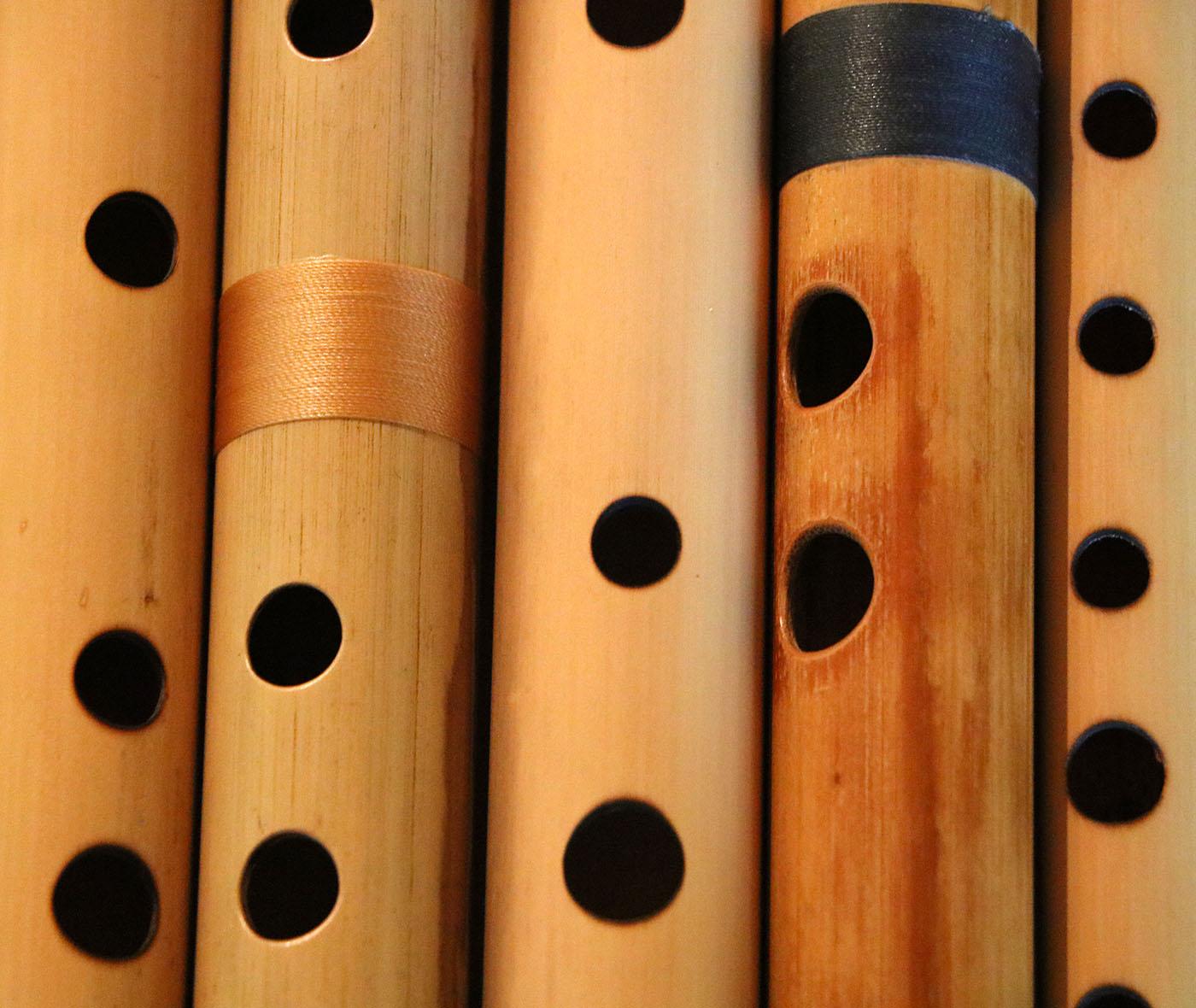 Bansuri Flutes Transverse Side-Blown Bamboo India Nepal Pakistan