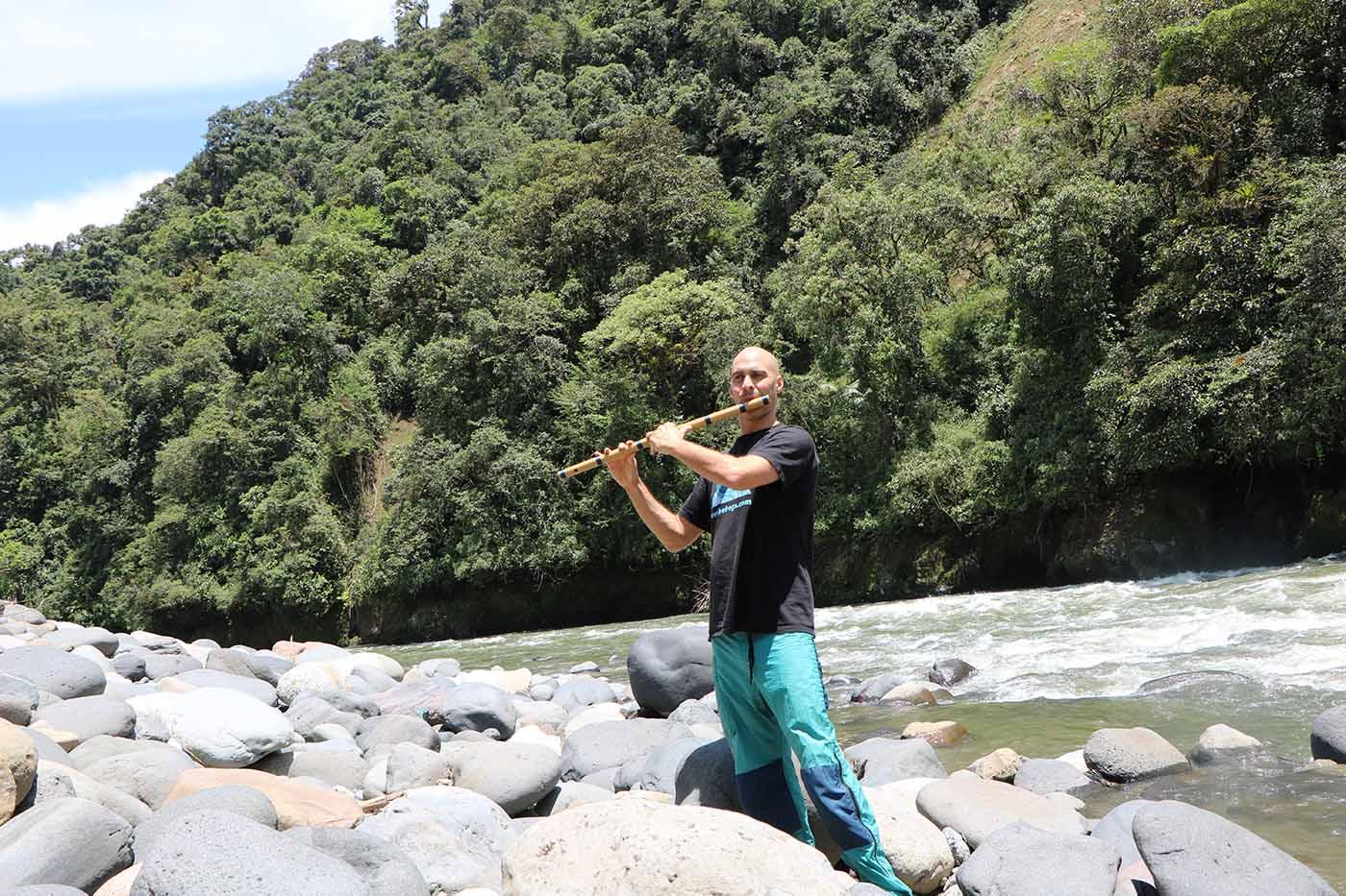 Ecuador 2015 Rio Quijos Kerry Kriger bamboo flute