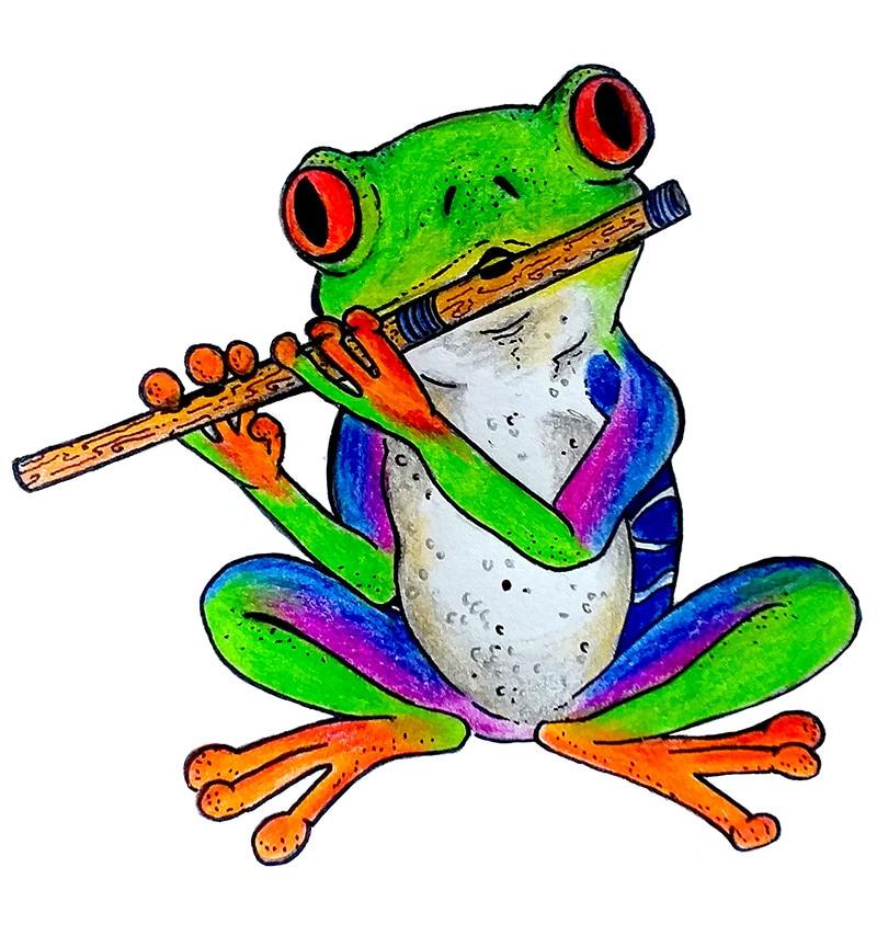Frog Flute Art Monica Valer