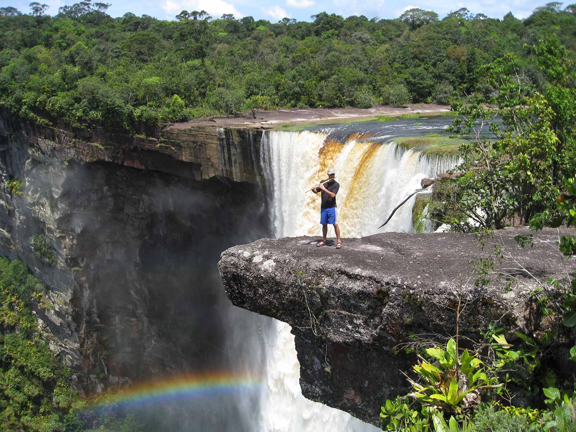 Guyana - Kerry Kriger Bansuri Bamboo Flute Kaieteur Falls 2008-1920