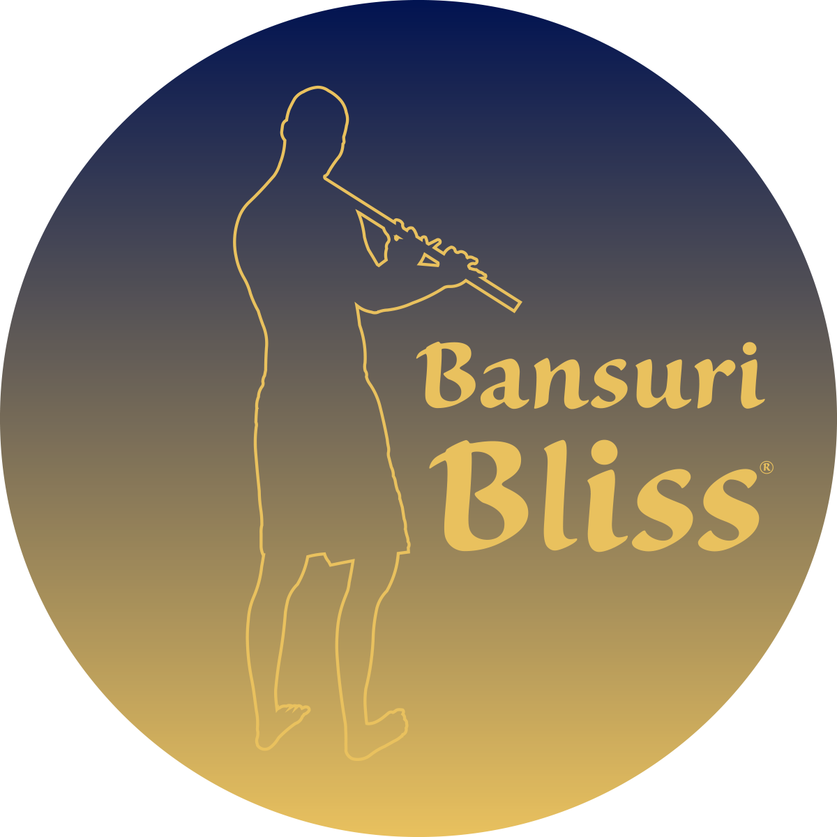 Logo Bansuri Bliss Silhouette