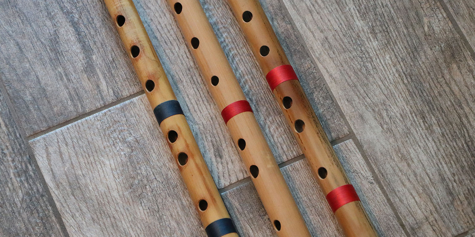 Three Bansuri Flutes