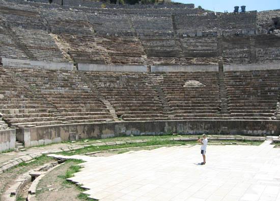 Turkey 2008 Bansuri Kerry Kriger - Grand Ampitheatre of Ephesus 550