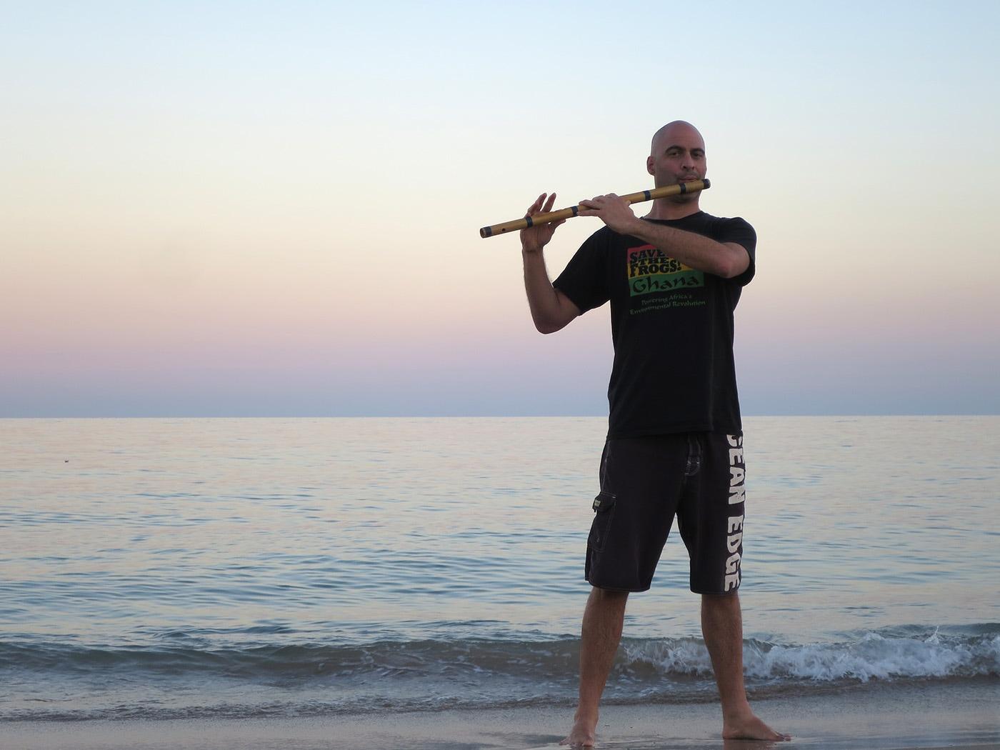 UAE - Kerry Kriger Indian Flute - Fujairah Beach