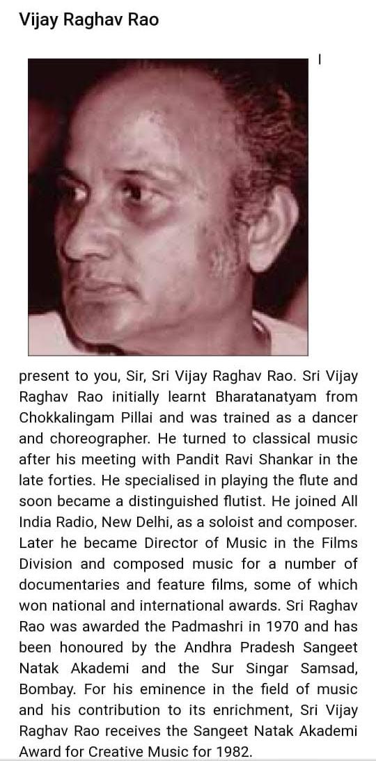 Vijay Raghav Rao dance